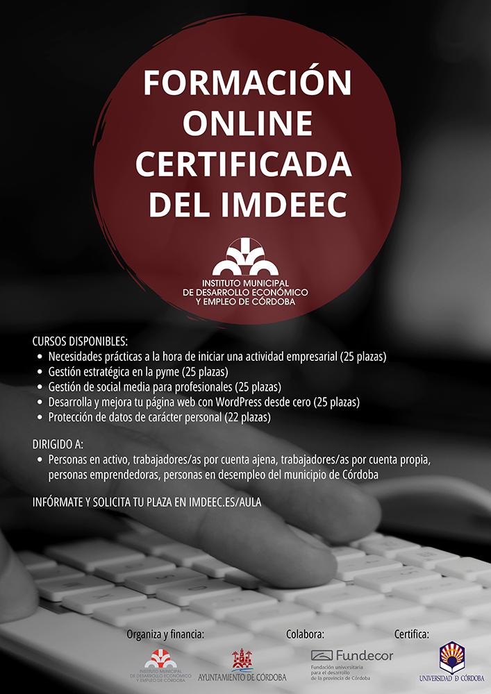 Formación online certificada del Imdeec