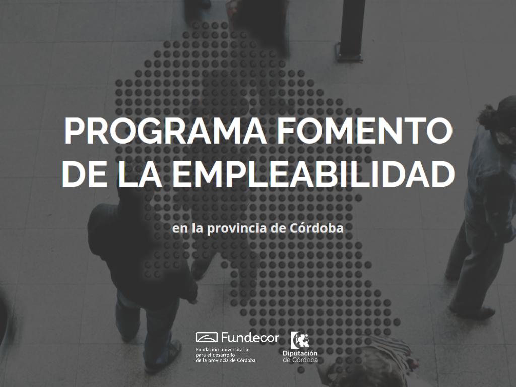 Programa Fomento de la Empleabilidad en la Provincia de Córdoba